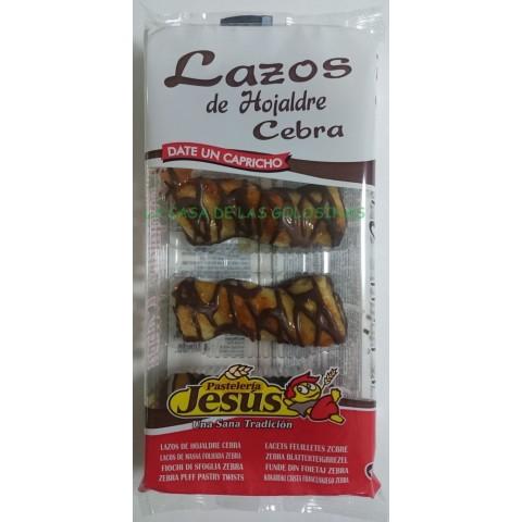 Lazos de Hojaldre Cebra de Jesus bandeja con 4 u.