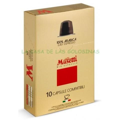 Cápsulas Café Musetti 100% Arabica estuche 10 unidades.