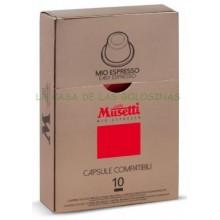 Cápsulas Café Musetti Mio Espresso estuche 10 unidades.
