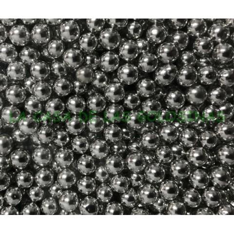 Perlas color plata de azúcar bolsa 1Kg.