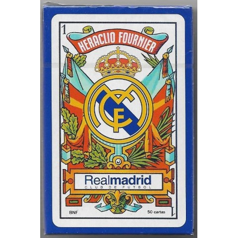 Baraja Naipes Futbol Real Madrid 50 cartas 1u.