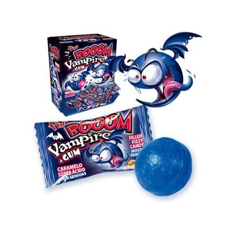 Fini boom Vampire chicle súper ácido relleno y pintalenguas 200 unidades.