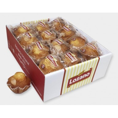 Madalenas grandes Lozano caja de 2,1 kg.