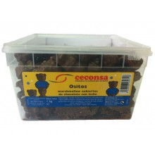 Ositos de esponja cubiertos de chocolate con leche Ceconsa 1 kg.