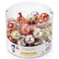 Bolas de Navidad de chocolate con hilo 12gr 50unidades.