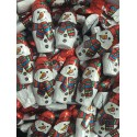 Chocolatinas figuras muñecos de nieve de chocolate bolsa 150u.