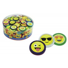 Monedas de chocolate Emoticonos bote 1kg.