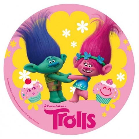 Oblea Impresa Trolls 20 cm. 1u.