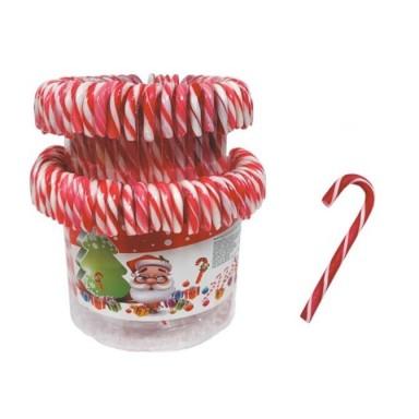 Bastones de caramelo de Navidad bote 72 unidades.