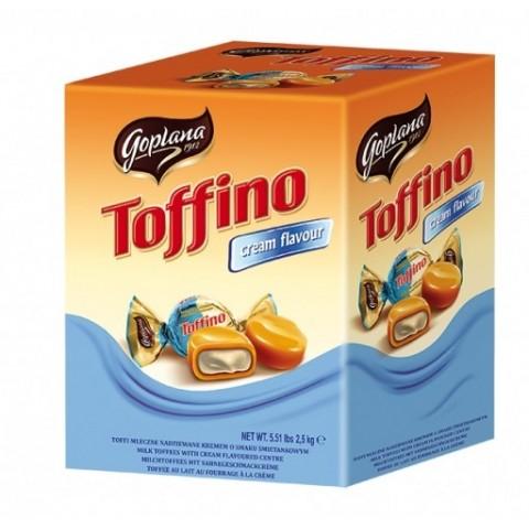 Caramelo de leche relleno de Crema sabor a Nata Toffino 2.5kg.