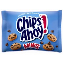 Galletas Mini Chips ahoy con chocolate de Nabisco 20 paquetes.