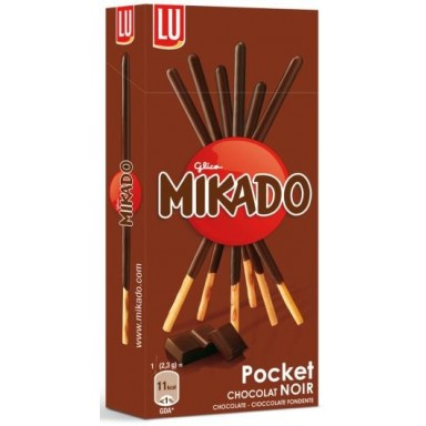 Palitos chocolate negro Mikado de Lu 24x39gr.