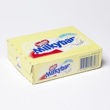 Tabletas de chocolate blanco de Milkybar