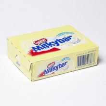 Tabletas de chocolate blanco de Milkybar