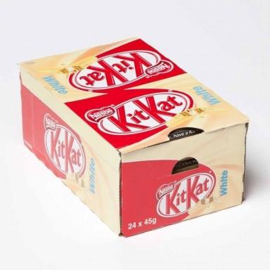 Kit Kat chocolate blanco 24 unidades.