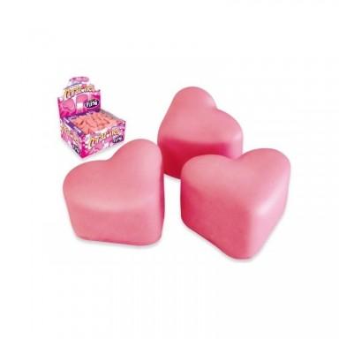 Corazones Marshmallow cubiertos de chocolate de fresa Fini 75u.