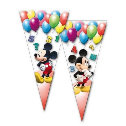 Bolsa cono 50u Mickey Clubhouse Ballons 20x40cm