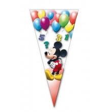 Bolsa cono 10u Mickey Clubhouse Ballons 20x40cm.