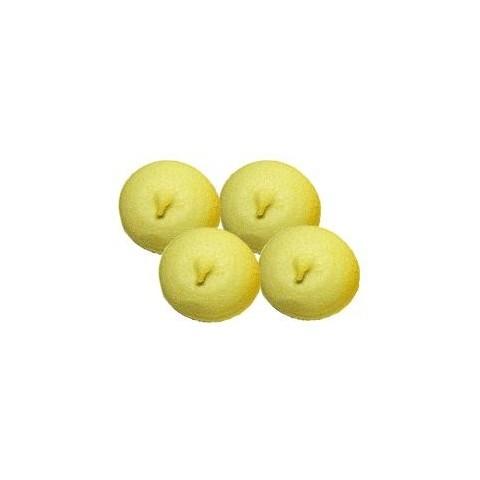 Esponjas bulgari bolas amarillas 100 unidades.