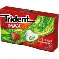 Chicles trident splash sabor  fresa-lima.