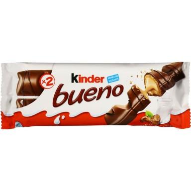 Kinder Bueno chocolatina caja con 30 unidades.