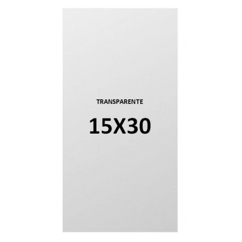 15x30 transparent plastic bags.