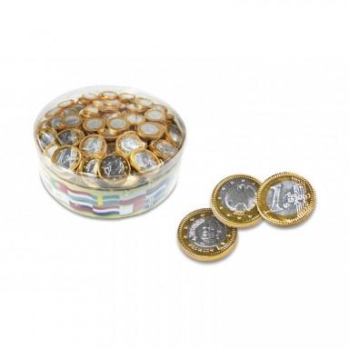 Monedas de chocolate interdulces 28 mm 300 unidades.