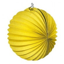 Farolillo colgante decoración para fiestas amarillo.