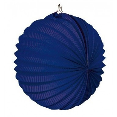 Farolillo colgante decoración para fiestas azul.