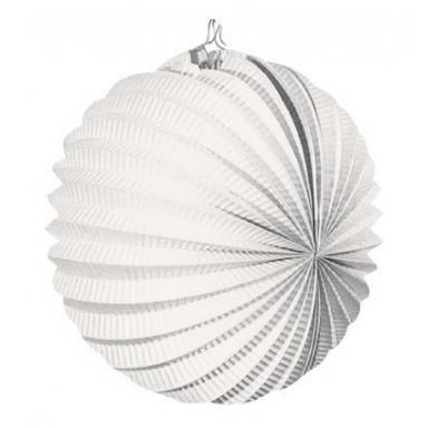 Farolillo colgante decoración para fiestas blanco.