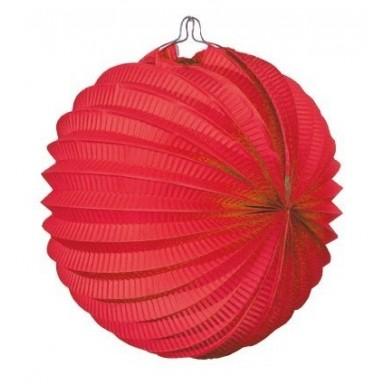 Farolillo colgante decoración para fiestas rojo.