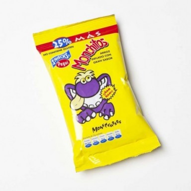 Pegui Monchito Grande arroz inflado Sin Gluten 40 unidades.