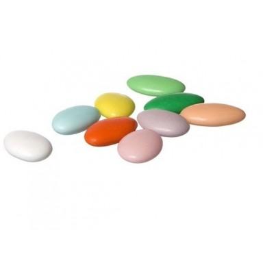 Peladillas de chocolate cobertura colores pastel bolsa 1Kg.