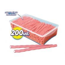 Torcidas regaliz rosa rellenas helado 200u.