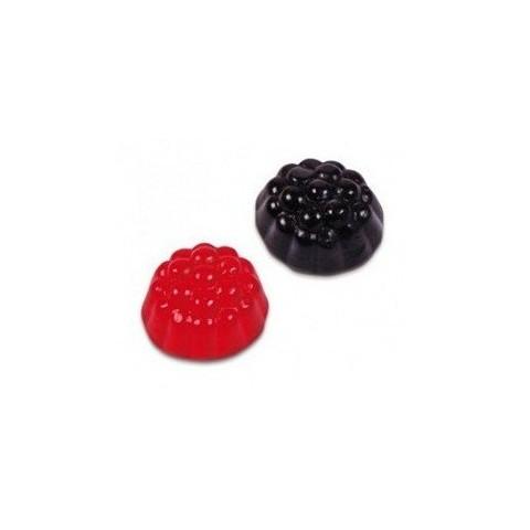 Caramelos de goma Fini Moras brillo rojo y negro  1 kg.