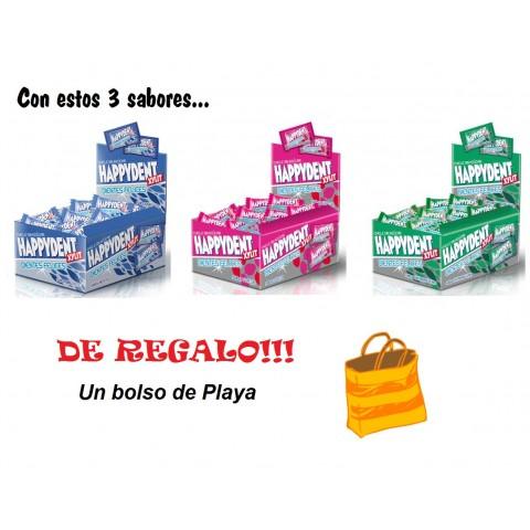 Lote Happydent menta, fresa y hierbabuena+Toalla de regalo!!!