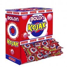 Bolon Kojak Fiesta sabor cereza relleno de chicle estuche 150 unidades.