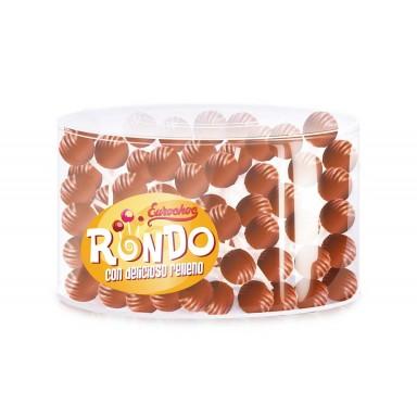 Rondos chocolate relleno de crema de fresa 140u.