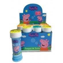 Pompas jabón Peppa Pig 12 unidades.