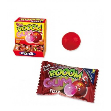 Fini boom Gum chicle sabor fresa 200 unidades.