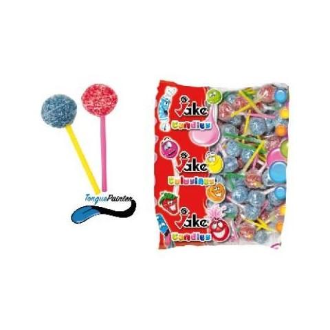 Caramelo con palo Jake chupa gum pintalenguas sabores surtidos 200 unidades.