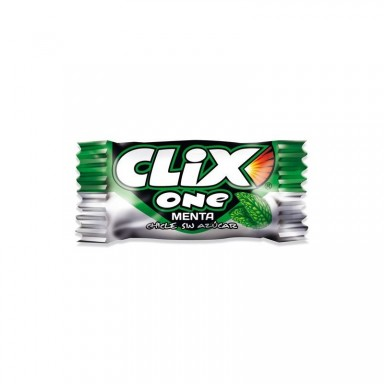 Chicles Clix sabor menta sin azucar 200 unidades.