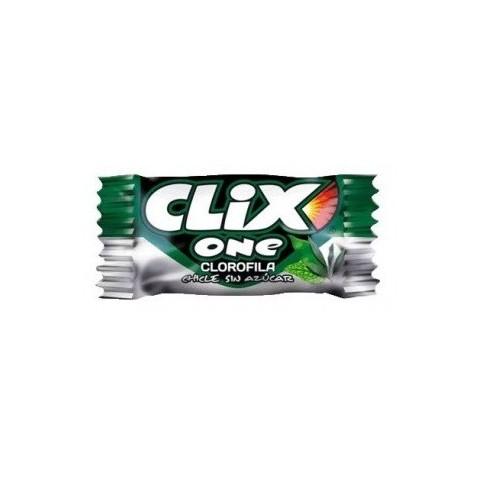 Chicles Clix sabor clorofila sin azucar 200 unidades.