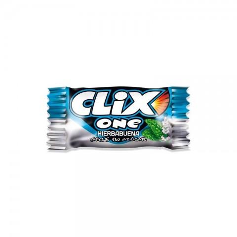 Chicles Clix sabor hierbabuena sin azucar 200 unidades.