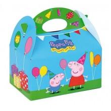 Cajita Cartón para celebraciones Peppa Pig 1u.