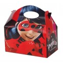 Cajita Cartón para celebraciones Ladybug 1u.