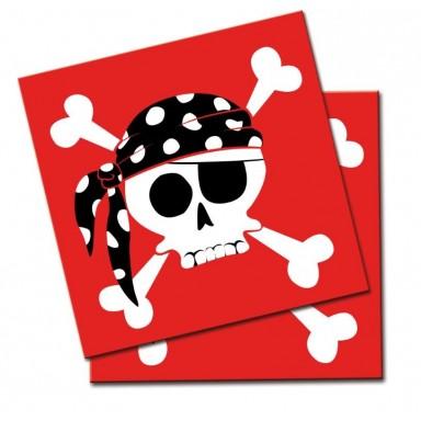 Servilletas Piratas 20u.