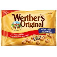 Caramelos Werther's original Sin Azúcar sabor nata bolsa de 1Kg.