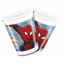 Vasos Spiderman 8u.