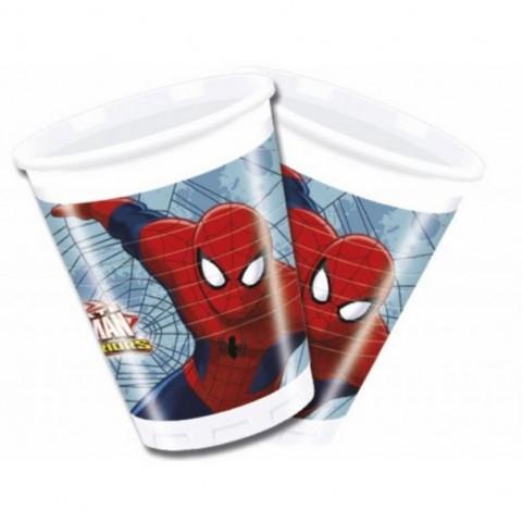 Vasos Spiderman 8u.